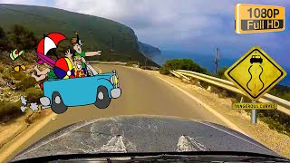 Driving to PORTO KATSIKI beach-Voznja do plaze / Lefkada / GoPro Hero FHD