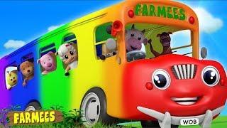 Wheels on the Bus | Kids Nursery Rhymes | Songs for Children