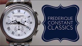 (4K) Frederique Constant Classics Chronograph Men's Watch Review Model: FC-292MC4P6B2