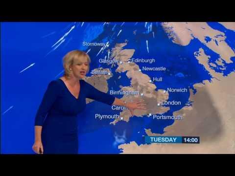 Carol Kirkwood BBC Weather On Victoria Derbyshire 2016 10 25