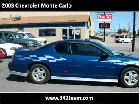 2003 chevrolet monte carlo used cars rapid city sd youtube. Black Bedroom Furniture Sets. Home Design Ideas