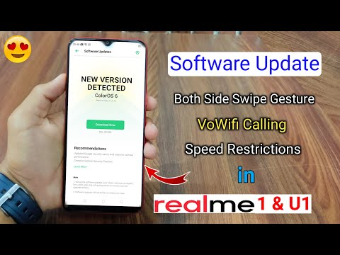 New Software Update (February) Received In Realme 1 & U1 , New Features Added, WiFi Calling, Gesture