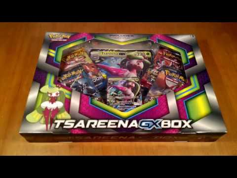Opening Pokemon Cards - Tsareena GX box