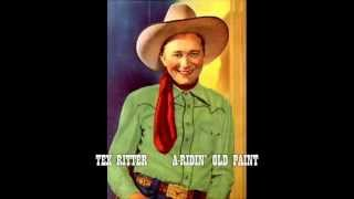TEX RITTER  A-Ridin' Old Paint