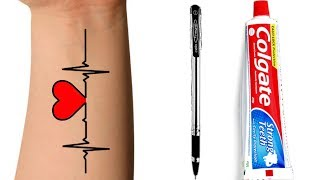 How to make tattoo at home with pen | tattoo making on hand | How to make tattoo | tattoo