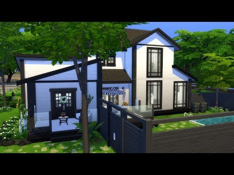 THE SIMS 4: BLACK AND WHITE HOME + GIVEAWAY! thumbnail