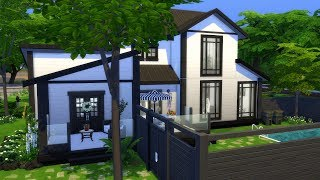 THE SIMS 4: BLACK AND WHITE HOME + GIVEAWAY!