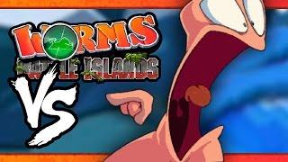 VS MODE: Worms: Battle Islands - WRONG BUTTON!! (Part 2) (4-Player)