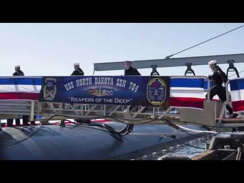USS North Dakota Commissioned at Naval Submarine Base New London