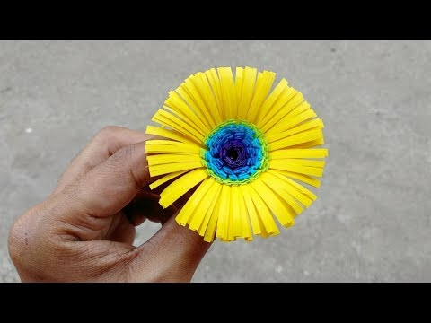 Paper Daisy flower | How to make a paper daisy flower easily ? Part 2