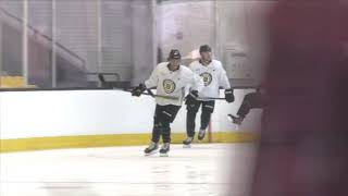 Boston Bruins Dancing On Full Display During Monday's Practice