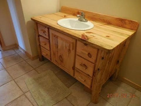 Pine Bathroom Vanity You