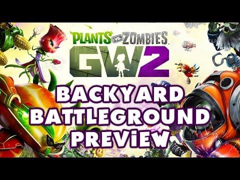 Plants vs Zombies: Garden Warfare 2 - Backyard Battleground Gameplay Preview! (PvZ:GW2)