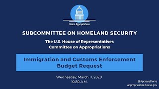 Immigration and Customs Enforcement Budget Request for FY2021 (EventID=110701)