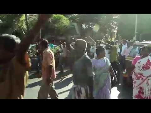 Clashes in chennai following Jayalalitha arrest
