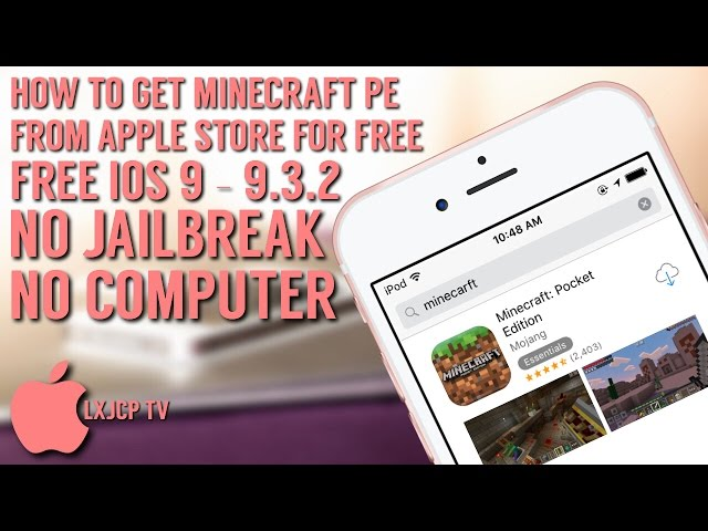 How To Get Minecraft Pe From App Store Free Ios 9 9 3 2 No Jailbreak Pc Iphone Ipad Ipod Touch Youtube