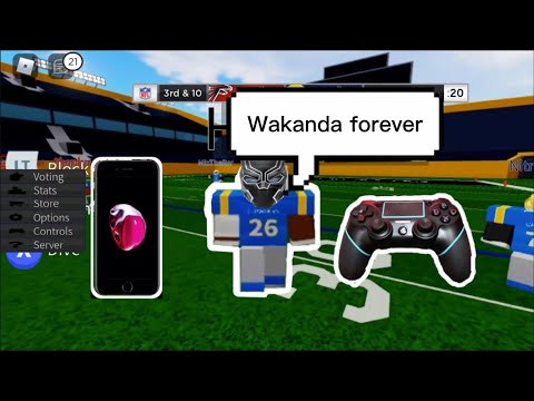 Trying out my new controller in football fusion