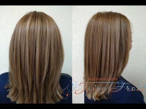 Окрашивание волос в бежево  карамельный цвет Прямой эфир в Инстаграм
