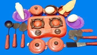Kids Pretend Play with Kitchen ToySet Cooking Time !! Brown Color kitchens with Finger Family Song