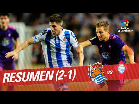 Resumen de Real Sociedad vs RC Celta (2-1)