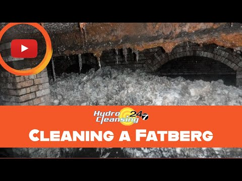 Cleaning a Fatberg - Hydro Cleansing