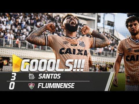 SANTOS 3 X 0 FLUMINENSE | TODOS OS GOLS | Brasileirão (27/10/18)