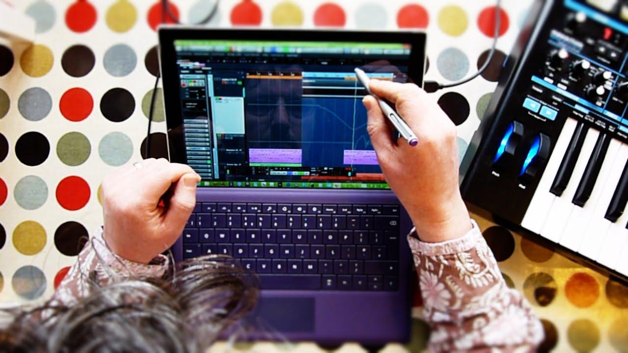Surface Pro 3 Music Production Timelapse