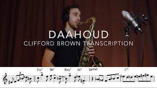 Daahoud - clifford brown transcription ...