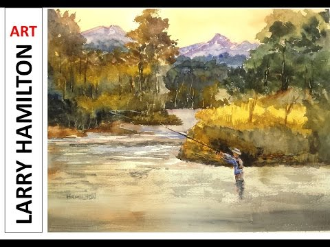 Paint Along With Larry Hamilton Watercolor July 20, 2015
