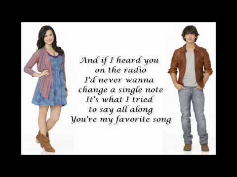 You're my favourite song - Camp Rock 2 (lyrics) Demi Lovato, Joe Jonas