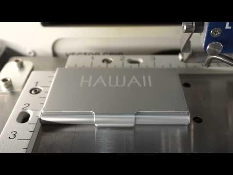 Laser Engraving Muji Business Card Case