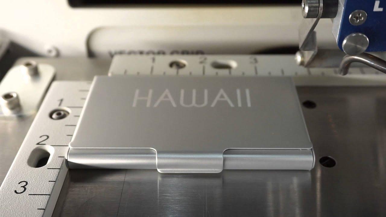 Laser Engraving Muji Business Card Case - YouTube