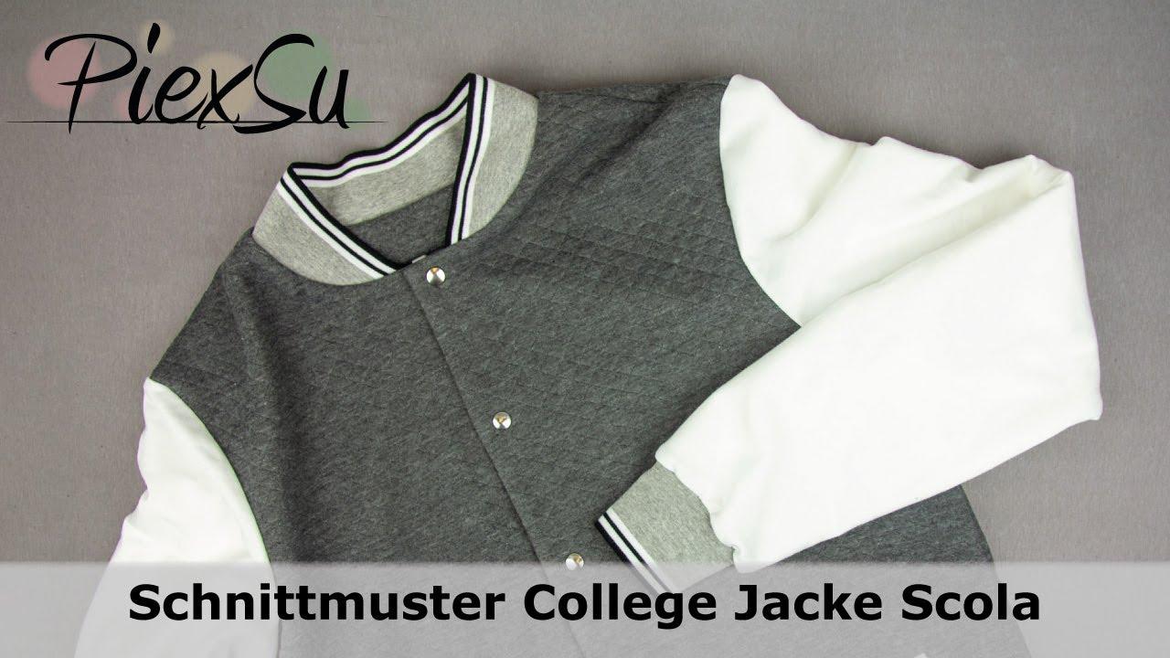 Nähanleitung Schnittmuster PiexSu Scola College Jacke