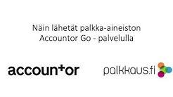 Accountor Go, palkka-aineiston lähetys