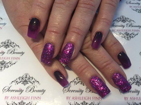 Dark Purple Ombré | Acrylic Nails