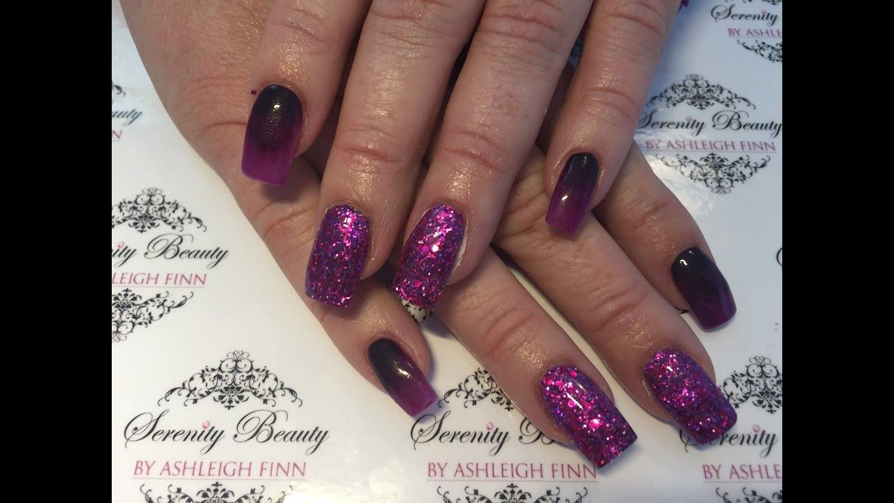 Dark Purple Ombré | Acrylic Nails - YouTube