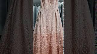클래식 하이패션 트랜드 반짝이는 핑크빛 예쁜 이브닝 드…