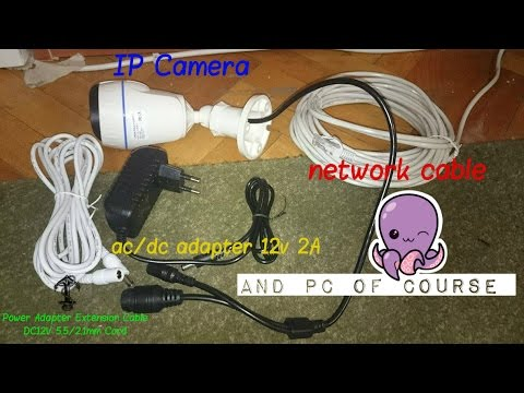 how to connect ip camera to pc diy youtube. Black Bedroom Furniture Sets. Home Design Ideas
