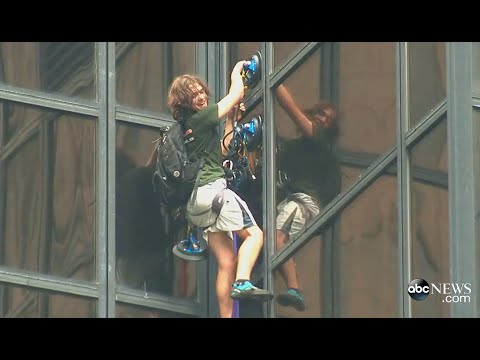 Man Climbs Trump Tower