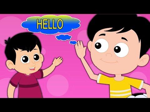 ciao canzone | filastrocche per bambini | di auguri persone | Music For Kids | Hello Song For Kids