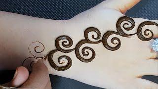 आसानी से मेहंदी लगाना सिखे - Easy Arabic Wedding Mehndi Design - शादी त्योहार पे लगाए
