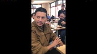 Luis Ángel Franco el flaco sorprende a fans en un restaurante