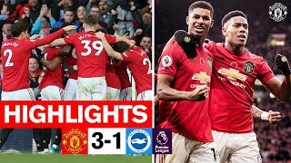 Highlights  United 3-1 Brighton  Premier League