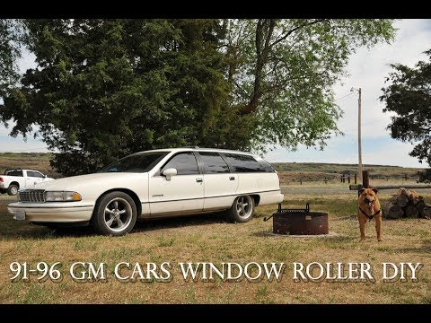 How to fix broken window rollers on a 91-96 Chevy Caprice and Impala and  Roadmaster
