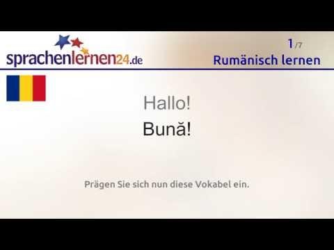 Lernen Sie Die Wichtigsten Wörter Auf Rumänisch