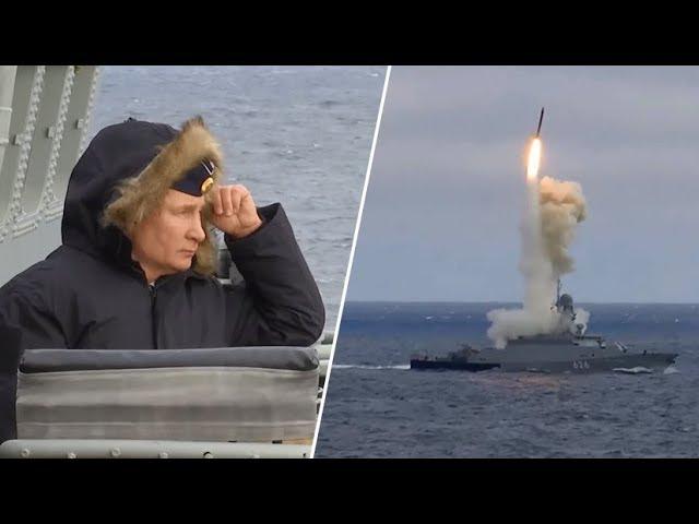 Путин проконтролировал ход учений ВМФ России в Чёрном море