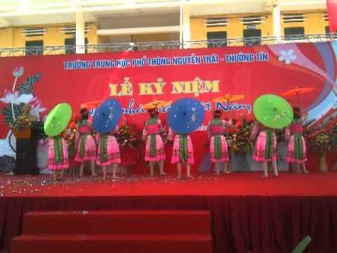 """Trường THPT Nguyễn Trãi-Thường tín. Múa Mèo: """"Xuân về trên Bản Thượng"""""""