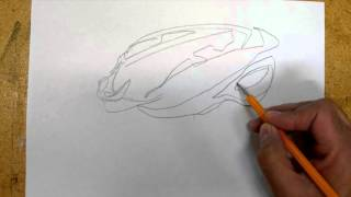 How to draw - Bicycle helmet