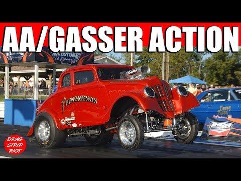 2016 ScottRods AA/Gassers Drag Racing Cars USA Nostalgia Nationals Keystone Raceway Park Video