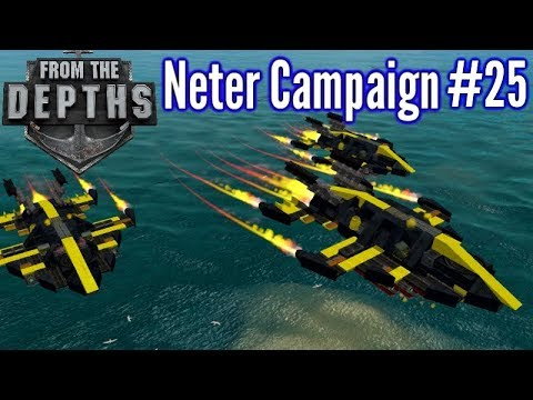 From The Depths | Ep 25 | Jet Aircraft Swarm!!| Neter Campaign Gameplay